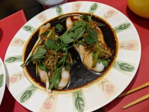 Steamed fish with a Salty Cantonese Sauce